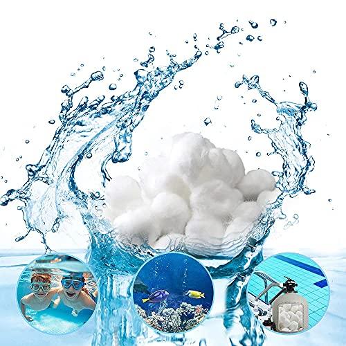 Filter Balls für Pool, Filterbälle, Filtermaterial für Poolpumpe, Poolfilter Balls, Filterkugeln, Ersetzen 25 kg Filtersand Quarzsand für Pool Sandfilter(700)