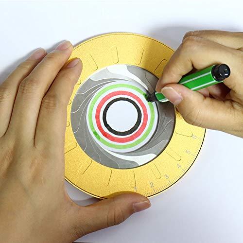 Circle Drawing Maker Tool, Circle Template Circle Drawing Tool, 360 Degrees Large Art Metal Stainless Steel Circle Template Adjustable Measurement Drawing Ruler