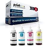4 cartuchos de tinta compatibles para Epson EcoTank L 1300 EcoTank L 200 EcoTank L 210 EcoTank L 300 T6641 T6642 T6643 T6644 BK C M Y – Office Line Serie