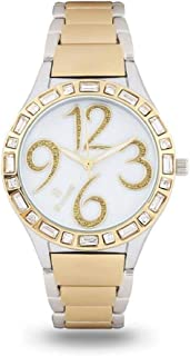 Sunex Women's White Dial Stainless Steel Band Watch, S0737TW