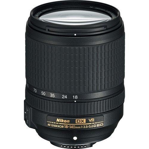 Nikon AF-S DX NIKKOR 18-140mm f/3.5-5.6G ED riduzione delle vibrazioni lente zoom con messa a fuoco automatica per fotocamere Nikon DSLR Versione internazionale (senza garanzia)