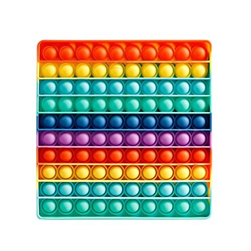 popit gioco,pop it 10x10,grande quadrato fidget toys,gigante da 100 pupit,丨da Fidget Toys Set, poppit gigantesco Antistress……