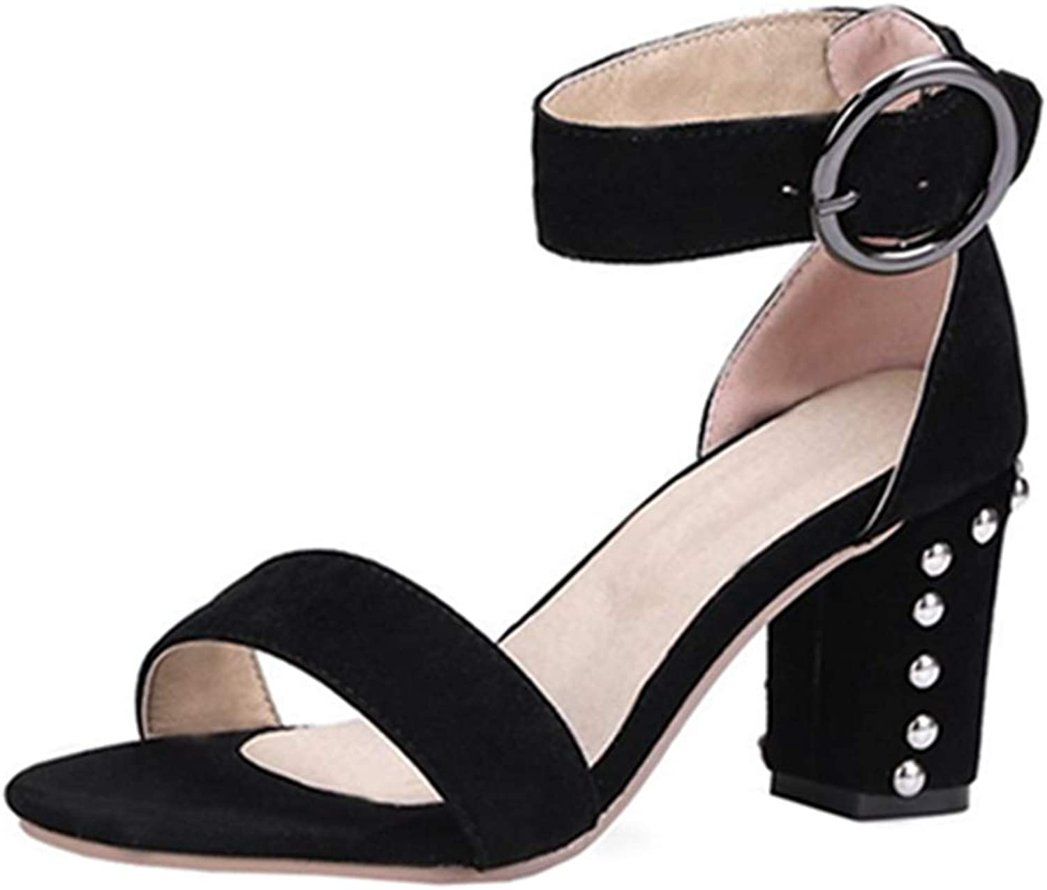 Cocey Women Sandals with Mid Chunky Heel