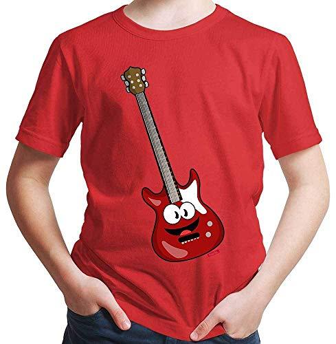 HARIZ Jungen T-Shirt E-Gitarre Lachend Instrument Kind Lustig Plus Geschenkkarten Rot 92/1-2 Jahre