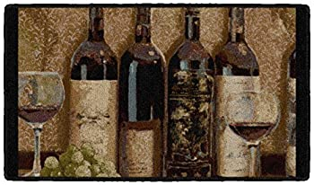 Brumlow Mills Wine Botique Area Rug for Kitchen Dining Bedroom Living Room and Home Decor 20  x 34  Tan