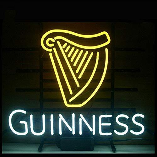 xunlei Neonlicht Neon Sign Guinne Irisch Lager Ale Harp Schild Real Glass Bier Bar Pub Shop Club Display Weihnachten Licht Zeichen 17 * 14 kunstlampe