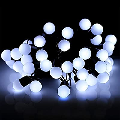 Globe String Lights,Bienna [Waterproof] 16.4ft/5M 50 LED Ball Starry Fairy Lightning for Bedroom Outdoor Indoor Garden Patio Home Christmas Xmas Holiday Halloween Wedding Party (Multi color Changing)