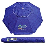 AMMSUN 6.5 ft Outdoor Patio Beach Umbrella Sun Shelter with Tilt Air Vent Carry Bag
