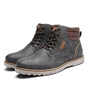 Quicksilk EYUSHIJIA Men's Waterproof Snow Boots Hiking Boot (9 D(M) US, Dark Gray)