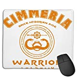 Cimmeria Warrior Academy Conan The Barbarian Customized Designs Non-Slip Rubber Base Gaming Mouse Pads for Mac, PC, Computers. Ideal for Working Or Game
