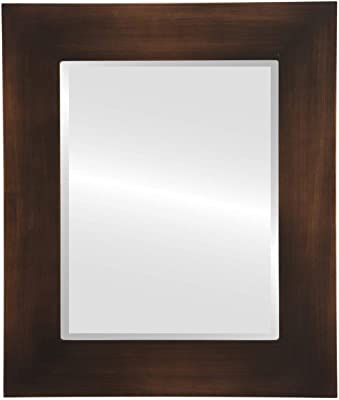 5f393b357d6e7a The Oval and Round Mirror Store Ashland Framed Rectangle Mirror in  Burnished Rubbed Bronze - Antique