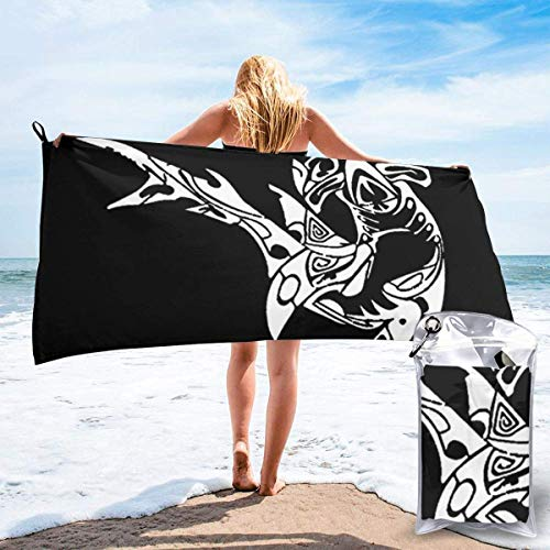 Bathroom Towels Shower Towels Toalla de playa de secado rápido Tiburón martillo Beach Towels 140 X 70