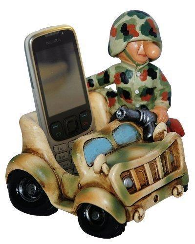 Commando Industries Lustiger Handyhalter Deko Soldat im Bundeswehrauto Fun Division Farbe US Desert Camo oder Flecktarn Neu&OVP (Flecktarn)