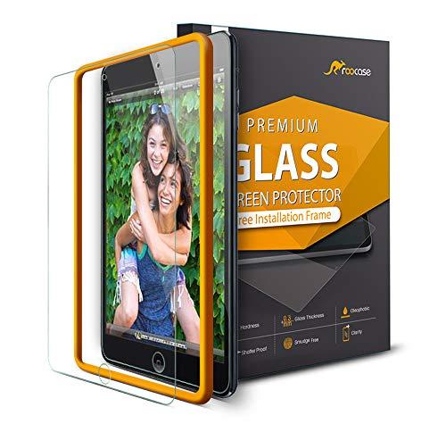 rooCASE Displayschutzfolie für iPad Air 3 2019 / iPad Pro 10,5, kostenloser Einbaurahmen, [Case Friendly] Premium gehärtetes Glas Displayschutzfolie für das Apple iPad Air 3 2019 / iPad Pro 10,5 Zoll