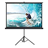 TaoTronics Projector Screen with Stand, TT-HP020 Indoor Outdoor PVC matte Movie Projection Screen 4K HD with Wrinkle-Free Design (Easy to Clean, 1.1Gain, 160° Viewing Angle & Includes A Carry Bag)
