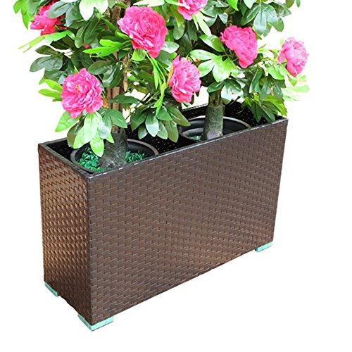 Dongyd Caja de Flores de ratán Balcón Estante de Flores al Aire Libre Maceta Sala de Estar Bonsai Americano Marco Marco Floral Muebles