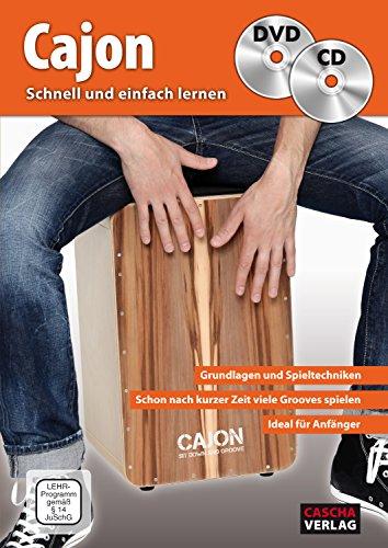 CASCHA Cajon - Schnell und einfach lernen + CD + DVD: Grundlagen und Spieltechniken - Schon nach kurzer Zeit viele Grooves spielen - Ideal für ... Playbacks zum Mitspielen - Mit vielen Fotos