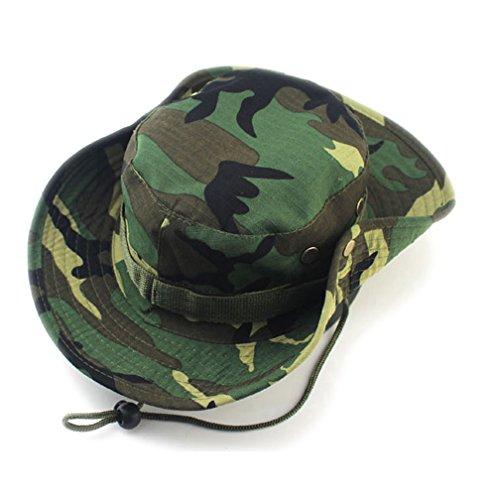 HIDOUYAL Outdoor Hut Sonnenschutz Schatten abgerundeten Kanten Kopfbedeckung Alpine Hüte CP Tarnung Dschungel Hats Ben nepalesische Kappe Hat Frauen/Männer