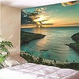 KHKJ Tapiz de niña de mar de Sirena Tapiz de Hotel para Colgar en la Pared decoración de Sala de Estar dormitorios Regalos A7 150x130cm