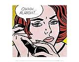 Ohhh...Alright..., 1964 - Póster de Roy Lichtenstein, 35,5 x 28,7 cm