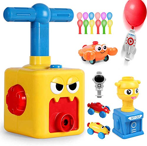 Jiahuade Ballon Auto Spielzeug, Kinder Ballon Auto Spielzeug, Aufblasbare Startrampe Rocket Spaceman Spielzeug-Trägheitsspielzeug Spaß Trägheit Power Auto Ballon Kind Geschenk (A)