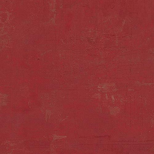 Manhattan Comfort NWCH28319 Skokie Vinyl Faux Textured Wallpaper, Red