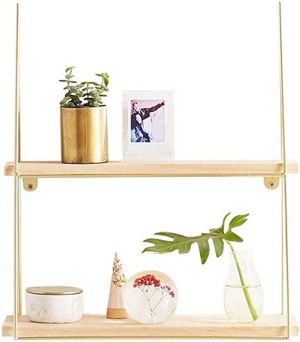 YQSHYP OFFer Modern Minimalist Solid Wood 5 ☆ very popular W Shelves Floating Creative