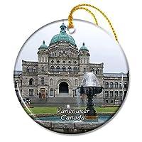 カナダバンクーバー国会議事堂クリスマスオーナメントセラミックシート旅行お土産ギフト