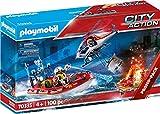 Playmobil City Action 70335 - Missione Antincendio con Elicottero e Gommone, dai 4 anni
