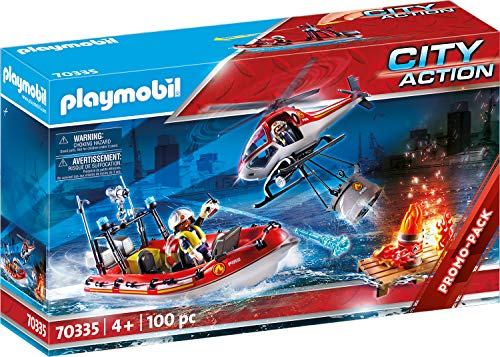 Playmobil City Action 70335 Brandweermissie Met Helikopter En Boot