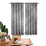 dsdsgog Room Darkening Drape Diamond Plate Effects Curtain for Bedroom
