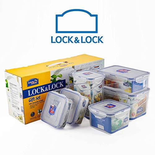 LocknLock 6er Vorratsdosen Set luftdicht   Gefrierdosen & Frischhaltedosen mit Deckel - Aufbewahrungsbox Küche, Frischhaltedose BPA frei   Lock und Lock Vorratsdose - luftdichte Dosen für Aufbewahrung