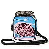 Brain in a Jar Crossbody Bag in Vinyl
