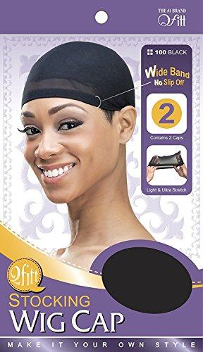 Bonnet pour perruque noir (lot de 2)