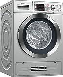 Bosch Serie 6 WVH2849XEP Independiente Carga frontal A Acero inoxidable lavadora - Lavadora-secadora (Carga frontal, Independiente, Acero inoxidable, Izquierda, Botones, Giratorio, LED)