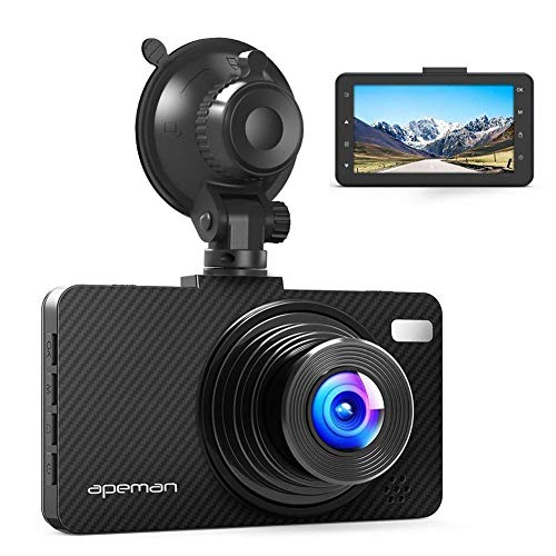 "APEMAN Dash Cam Dashboard FHD 1080P Car Camera DVR Recorder with 3.0"" LED Screen, Super Night Vision, G-Sensor, WDR"