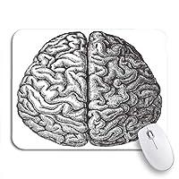 NINEHASA 可愛いマウスパッド Meyers Konversations Lexikon 1897からの人間の脳の解剖学ノートブックコンピュータ用の滑り止めゴムバッキングマウスパッドコンピュータマウスマット