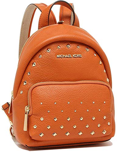 MICHAEL Michael Kors Erin Small Convertible Backpack Crossbody (Tangerine Studs)