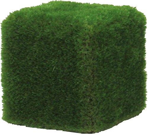 Verdevip Pouf d'ameublement extérieur 50 x 50 cm avec revêtement en herbe synthétique