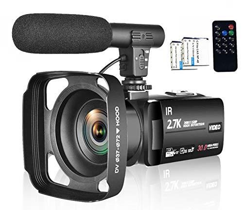 Camcorder Digital Video Youtube Vlogging Camera IR Night Vision 2.7K Video Camcorder Supports...