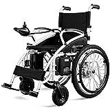 AOLI Silla de ruedas eléctrica para adultos, Scooter viejo ligero y plegable, silla de ruedas eléctrica con marco de aleación de aluminio 250W * 2 Potencia para discapacitados y personas mayores,Negr