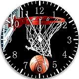 Orologio da parete da basket da 25,4 cm, bellissimo regalo e per camera da letto, decorazione da parete 118