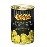 Sarasa Aceituna Verde Manzanilla Rellena de Anchoa - Paquete de 12 x 314 gr - Total: 7536 gr