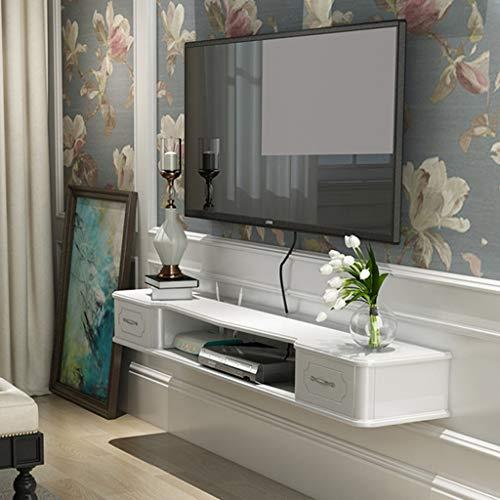L52 X W11 X H45cm Wall Tea Shop Living Room Dining Room Wall Decoration Shelf Hexagonal Multilayer Shelves White LBYMYB Wall Iron Multilayer Shelves
