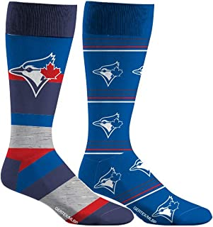 Toronto Blue Jays Dress Socks 2 Pack Mens Shoe Size 8-13 2 Pairs