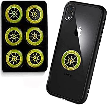 E-M-F Protection Cell Phone Stickers Anti Radiation Protector Stickers Blocker for iPhone iPad MacBook Laptop and All Electronic Devices [American Designer Made in Japan] Set of 6 Pieces