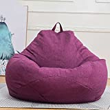 LDIW Gigante Puff Sofás Sillas con Relleno Puf Gigante para Decoracion Habitacion Puffs Infantiles Bean Bag Cojines para Suelo Grandes,Púrpura,60 * 70cm