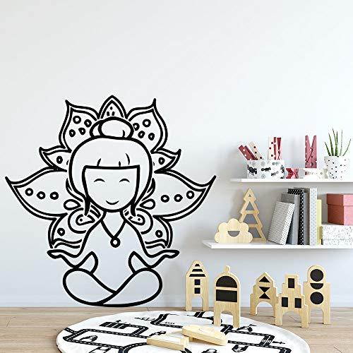 Etiquetas engomadas sutiles de la pared de la niña, arte interior moderno decoración de la sala de estar pegatinas de pared papel tapiz A9 XL 57x57cm