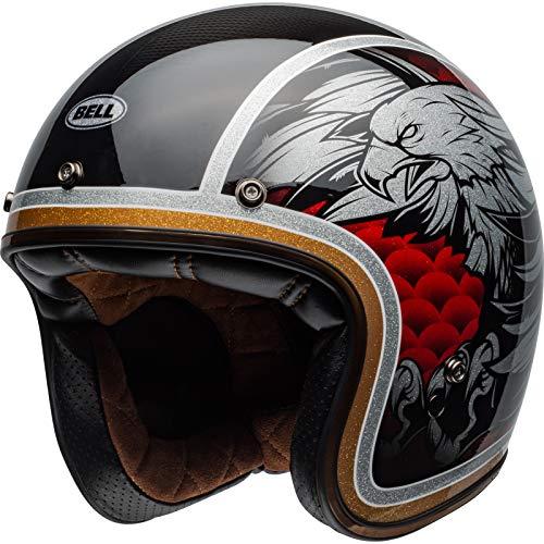 BELL Maßgefertigt 500 Kohlenstoff Osprey Motorrad Helm Offen - Schwarz Gelb, M