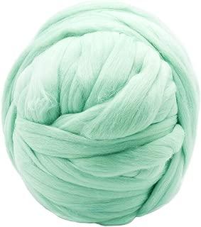 2.2lbs Chunky Yarn Giant Yarn Super Bulky Yarns 100% Merino Wool Yarn Ball for Arm Knitting DIY Throw Blankets,Scarfs, Cardigans,pet beds etc (Lemon Green)
